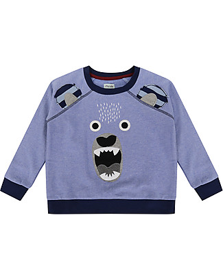 Lilly+Sid Boy Sweatshirt, Bear Character - 100% organic Cotton Sweatshirts
