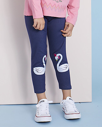 Lilly+Sid Girl 3/4 Leggings, Swan - 100% organic Cotton Leggings