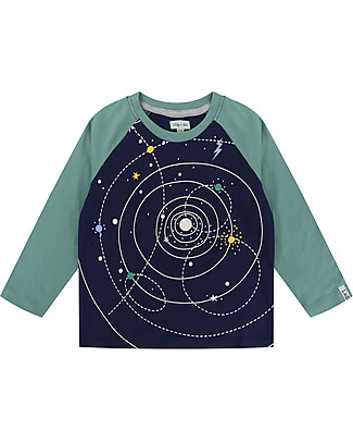 Lilly+Sid Long Sleeve Top, Space - 100% Organic Cotton Long Sleeves Tops