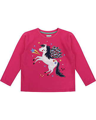 Lilly+Sid Long Sleeved Top, Pegasus Applique - 100% organic Cotton Long Sleeves Tops