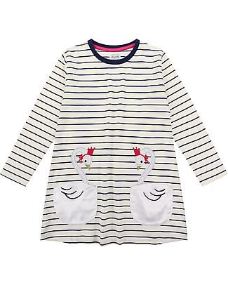 Lilly+Sid Pocket Jersey Dress, Swan - 100% organic Cotton Dresses