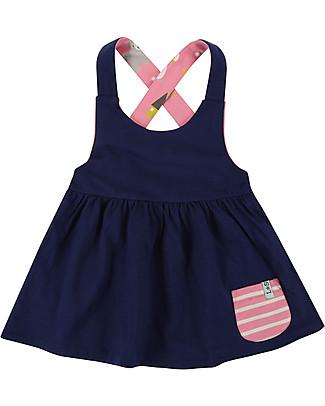 Lilly+Sid Reverse Pini Dress, Swan/Navy - 100% Cotton Dresses