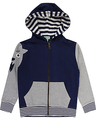 Lilly+Sid Zipped Hoodie, Character Sleeve - 100% organic Cotton Sweatshirts
