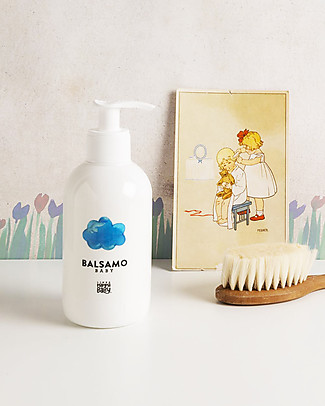 Linea Mamma Baby Baby Hair Conditioner - 250 ml - Organic extracts of Calendula & Chamomille Baby Bath Wash and shampoo