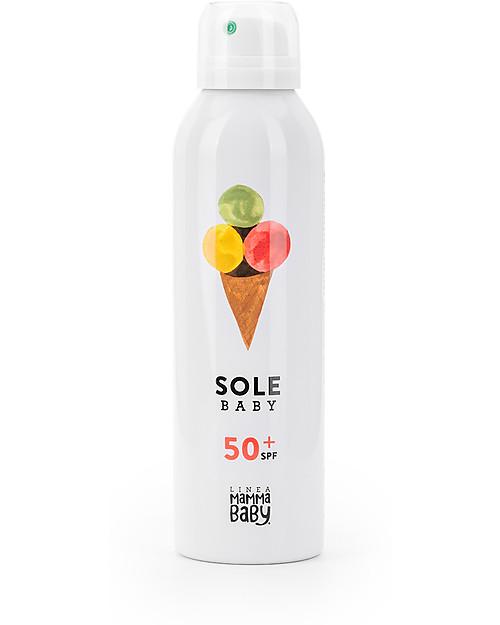Linea Mamma Baby Baby Sun Lotion Albertino 50+ Spray, 150 ml - UVA and UVB protection. Easy to use! Sun Screen