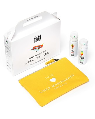 Linea Mamma Baby Baby Travel Kit: Sun Lotion, After Sun Spray and Clutch Bag! Sun Screen