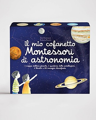 L'ippocampo Ragazzi My Montessori Box of Astronomy - 60 Images Montessori Toys