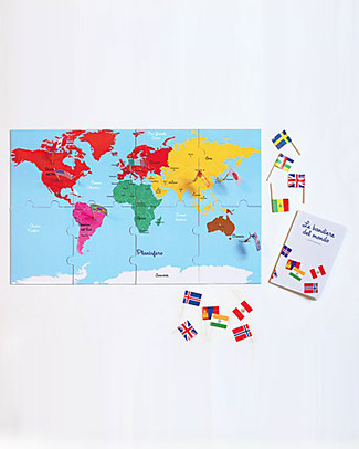 L'ippocampo Ragazzi My Montessori Collection of World Flags - 50 Flags Books
