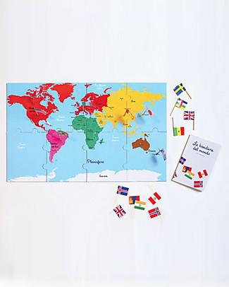 L'ippocampo Ragazzi My Montessori Collection of World Flags - 50 Flags Books