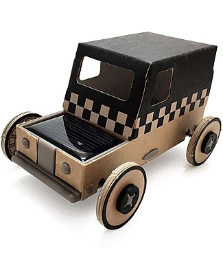 Litogami Autogami, Cardboard Taxi with Solar-Led Panel! Eco, 2-minutes assembling! Paper & Cardboard