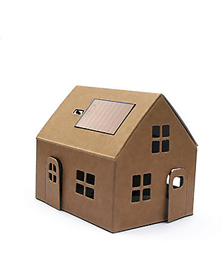Litogami Casagami Kraft, Night Lamp with Solar-Led Panel - Eco, 2-minutes assembling! Paper & Cardboard