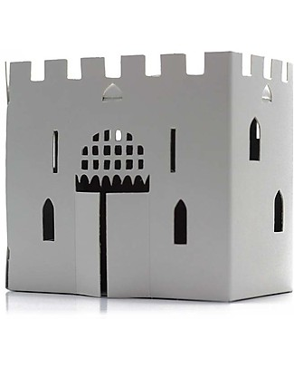 Litogami Casagami Village, Night Lamp with Solar-Led Panel - Eco, 2-minutes assembling! Paper & Cardboard
