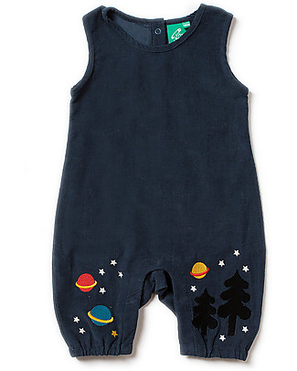 Little Green Radicals Embroidered Dungaree, Night Sky - 100% organic cotton Dungarees