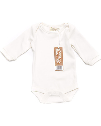 Little Green Radicals Long Sleeves Baby Body Natural - 100% organic cotton Long Sleeves Bodies