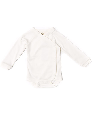 Little Green Radicals Long Sleeves Baby Wrap Natural - 100% organic cotton Long Sleeves Bodies