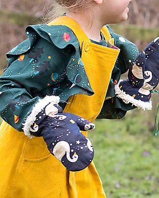 Little Green Radicals Mittens, Night Swimming - Super soft organic cotton lining Gloves e Mittens