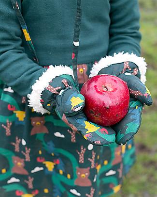 Little Green Radicals Mittens, Nordic Forest - Super soft organic cotton lining Gloves e Mittens