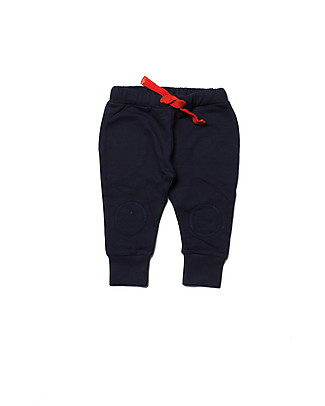Little Green Radicals Navy Cosy Joggers, Blue - 100% organic cotton Trousers
