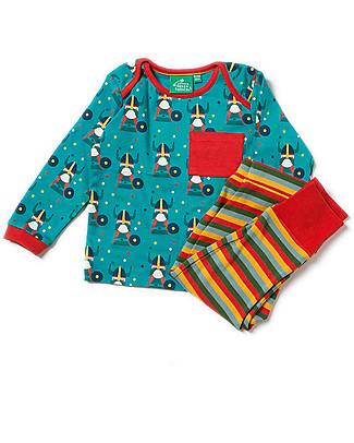 Little Green Radicals Playaway Set Top and Joggers, Nordic Vikings - 100% organic cotton Pyjamas