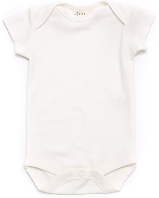 Little Green Radicals Short Sleeve Baby Body Natural - 100% organic cotton Short Sleeves Bodies