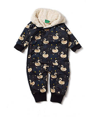 Little Green Radicals Snowsuit, Night Swimming - Super soft organic cotton lining Snowsuits