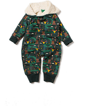 Little Green Radicals Snowsuit, Nordic Forest - Super soft organic cotton lining Snowsuits