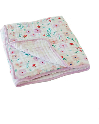 Little Unicorn Baby Quilt 120 x 120 cm, Morning Glory -  4 layers of 100% cotton muslin Blankets