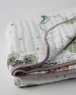 Little Unicorn Baby Quilt 120 x 120 cm, The Little Prince -  4 layers of 100% cotton muslin Blankets