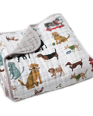 Little Unicorn Baby Quilt 120 x 120 cm, Woof - 4 layers of 100% cotton muslin Blankets