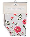 Little Unicorn Burp Cloth - Summer Poppy - 4 Quilted Layers of 100% Cotton Muslin Burpy Bibs