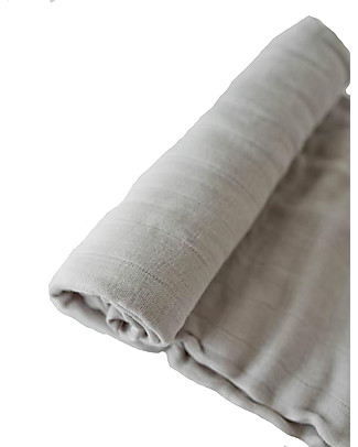 Little Unicorn Deluxe Swaddle Blanket 120 x 120 cm, Warm Grey - 100% bamboo muslin Swaddles