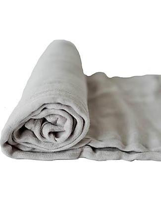 Little Unicorn Deluxe Swaddle Blanket 120 x 120 cm, Warm Grey - 100% bamboo muslin Swaddles