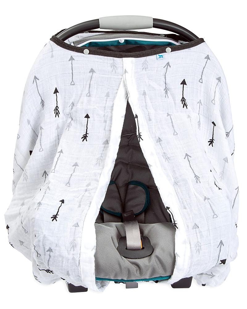 Little Unicorn Muslin Car Seat Canopy - Arrow - 100% Cotton Muslin Stroller Accessories  sc 1 st  Family Nation & Little Unicorn Muslin Car Seat Canopy - Arrow - 100% Cotton Muslin ...