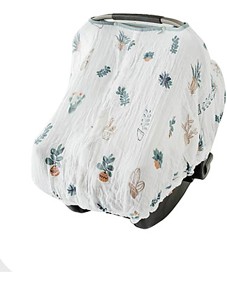 Little Unicorn Muslin Car Seat Canopy - Prickle Pots - 100% Cotton Muslin Stroller Accessories