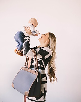 Little Unicorn Petite Manifest Vegan Leather Changing Bag, Grey - With changing pad and stroller hooks Messenger Bags