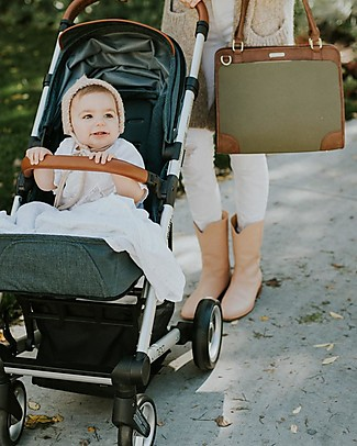 Little Unicorn Petite Manifest Vegan Leather Changing Bag, Olive - With changing pad and stroller hooks Messenger Bags