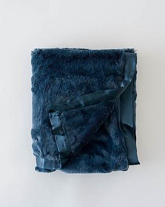 Little Unicorn Plush Luxury Blanket, Navy - Super Soft! Blankets