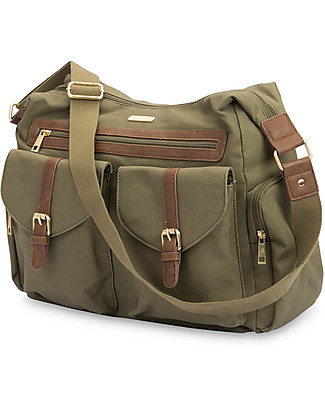 Little Unicorn Rambler, Mum and Dad Changing Bag, Olive - Complete with changing mattress! null