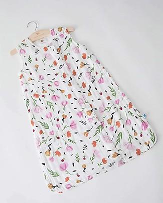 Little Unicorn Summer Sleep Bag, Berry & Bloom - Double layers of 100% cotton muslin Light Sleeping Bags
