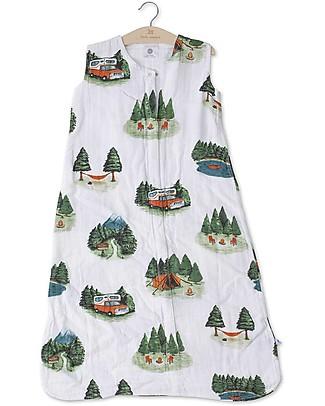 Little Unicorn Summer Sleep Bag, Happy Camper - Double layers of 100% cotton muslin Light Sleeping Bags
