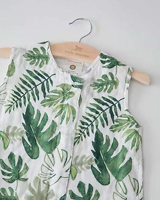 Little Unicorn Summer Sleep Bag, Tropical Leaf - Double layers of 100% cotton muslin Light Sleeping Bags
