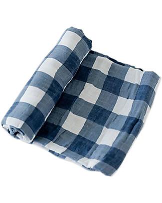 Little Unicorn Swaddle Blanket 120 x 120 cm, Jack Plaid - 100% Cotton Muslin Swaddles