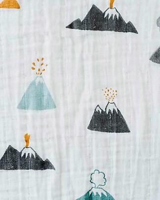 Little Unicorn Swaddle Blanket 120 x 120 cm, Lava Lava - 100% Cotton Muslin Swaddles