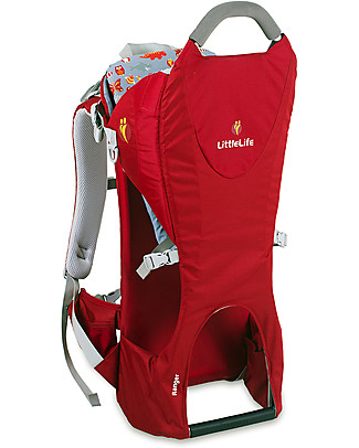 LittleLife Ranger S2 Child Carrier 28 x 26 x 75 cm, Red - The lightest back carrier on the market, 1.7 kg only!  Large Backpacks