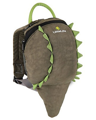 LittleLife  Toddler Backpack 1-3 years, Crocodile - Safety Reins Included Small Backpacks