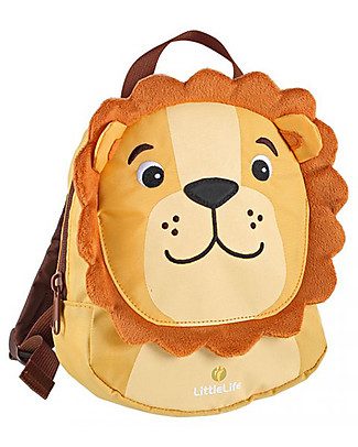 LittleLife Toddler Backpack 1-3 years, Lion - Safety Reins Included Small Backpacks