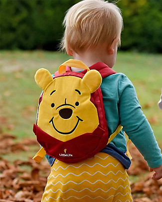 LittleLife Toddler Backpack 1-3 years, Winnie The Pooh - Safety Reins Included Small Backpacks