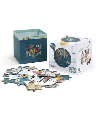 Londji Around My Planet Puzzle - 52 pieces extra large and with a reversible centre! Puzzles