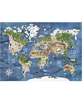Londji Discover the World Look & Find Puzzle - 200 pieces - Recycled Cardboard! Puzzles