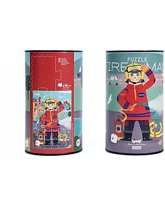 Londji Fireman Puzzle - 36 big pieces - Recycled Cardboard! Puzzles